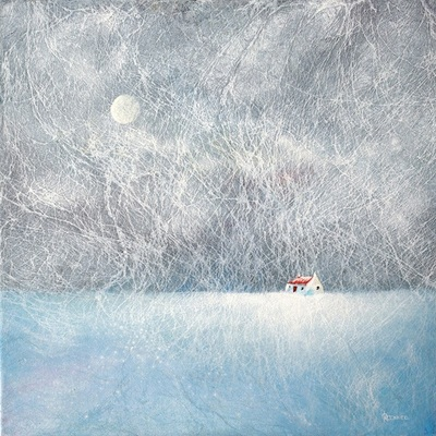 Contemporary snowscene painting