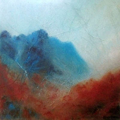 Impressionist Scottish mountain art