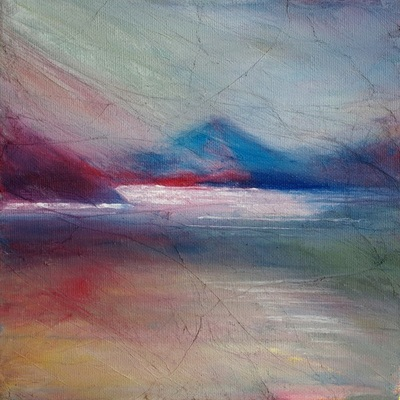 Contemporary Scottish coastal painting