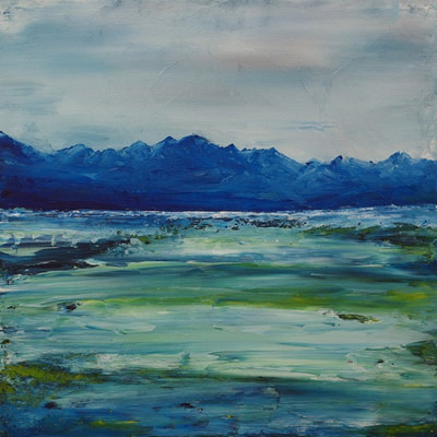 Scottish seascape painting from Armadale Skye