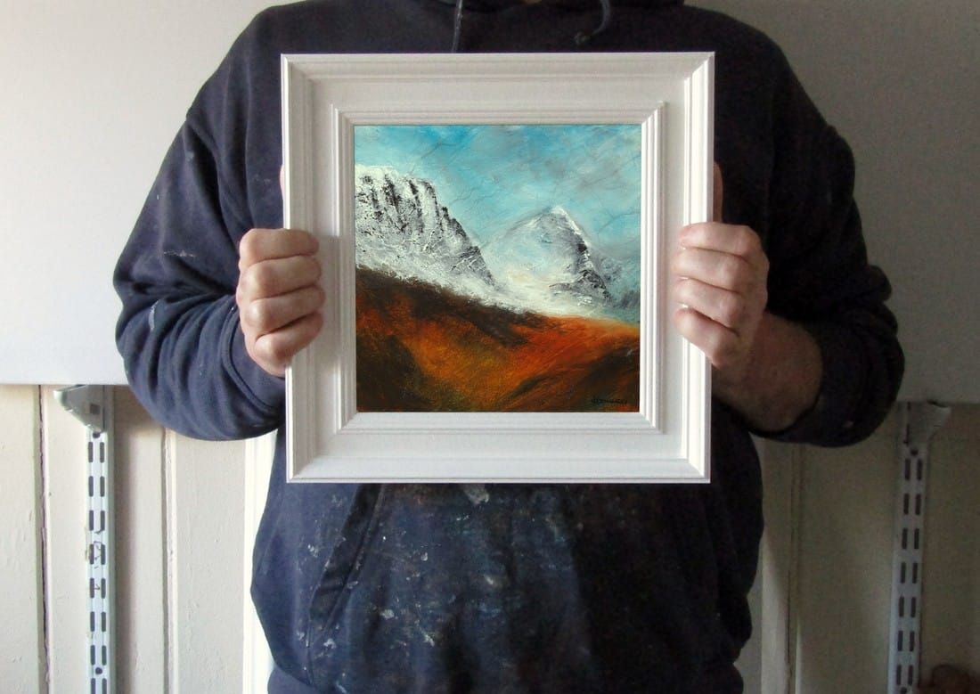 The Bealach Scottish winter landscape painting