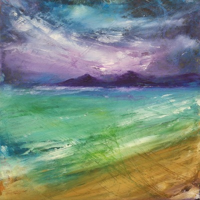 Abstract Scottish island painting