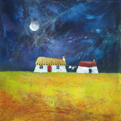Scottish thatched house giclee prints