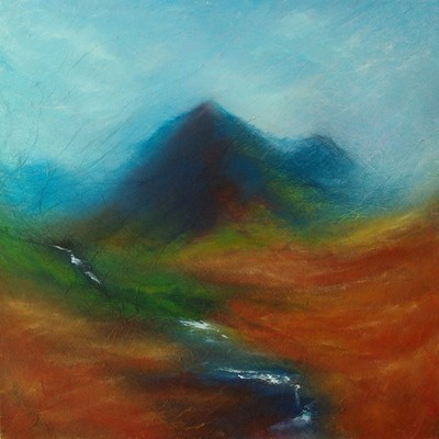 Cuillin mountain landscape painting
