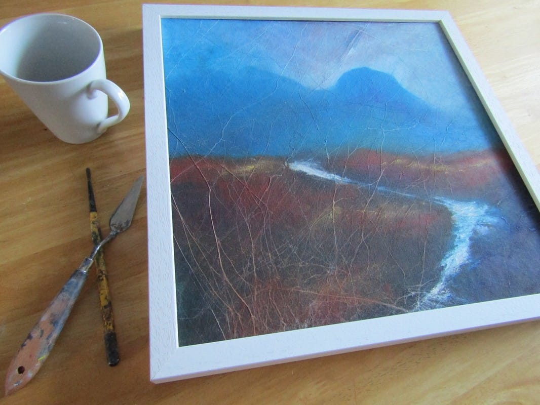 Skye mountain landscape painting