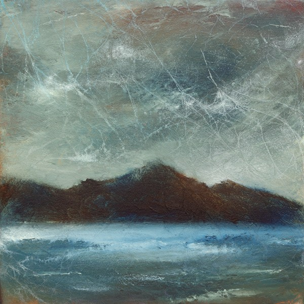 Contemporary Scottish mountain landscape painting