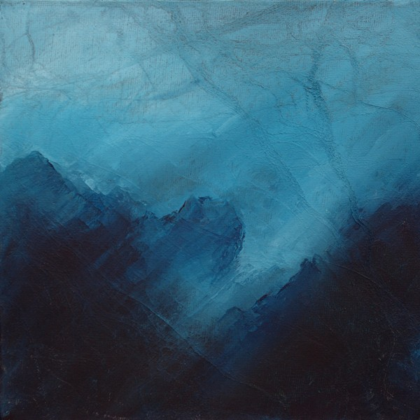 Black Cuillin ridge skye painting