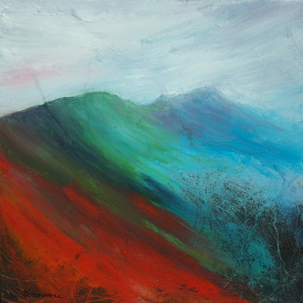 Abstract Pennine landscape painting and prints