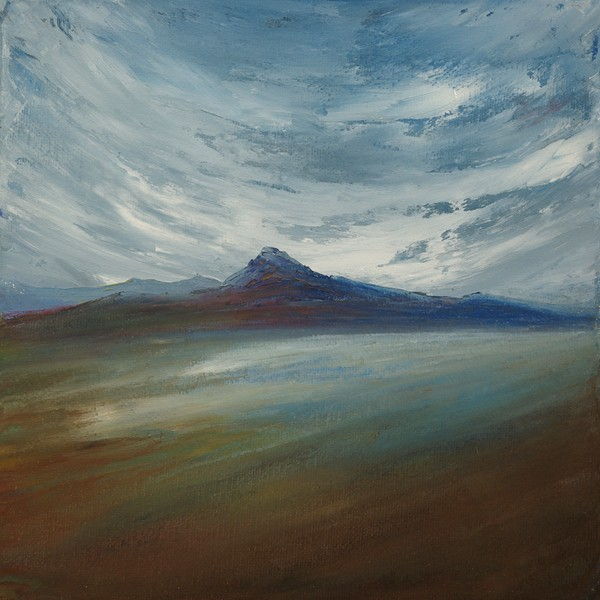 Northern loch Scottish landscape painting