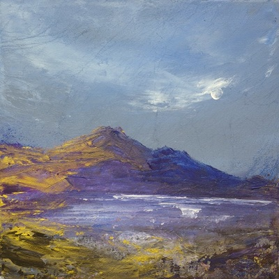 Scottish coastal landscape art