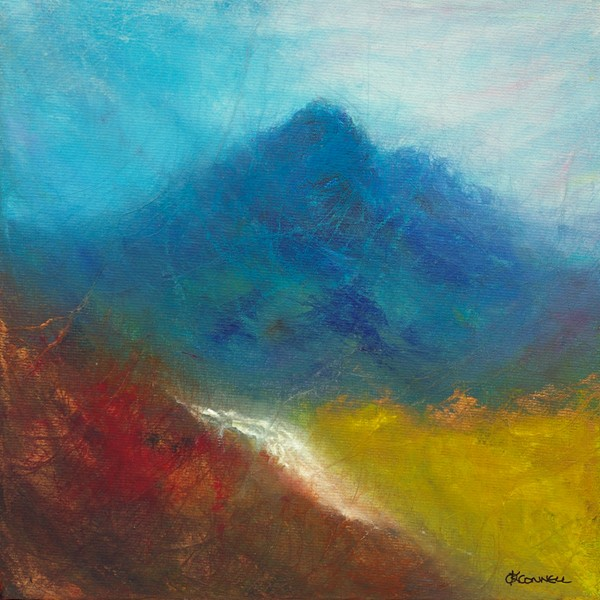 Sgurr na ciche Scottish  mountain painting