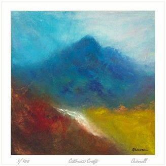 Scottish abstract mountain prints