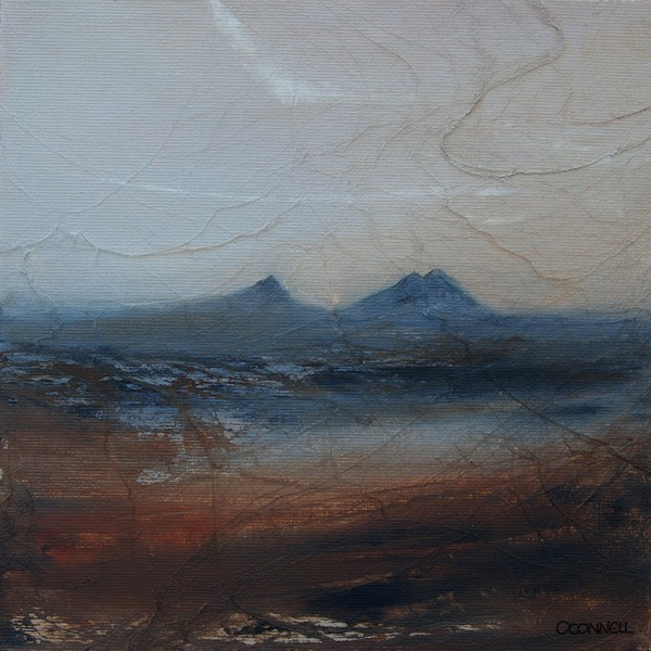 Caithness dawn Scottish mountain painting