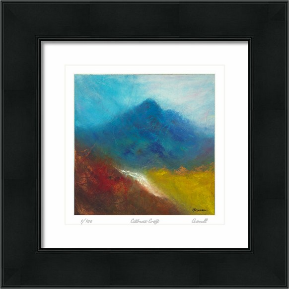Modern abstract Scottish mountain art paintings