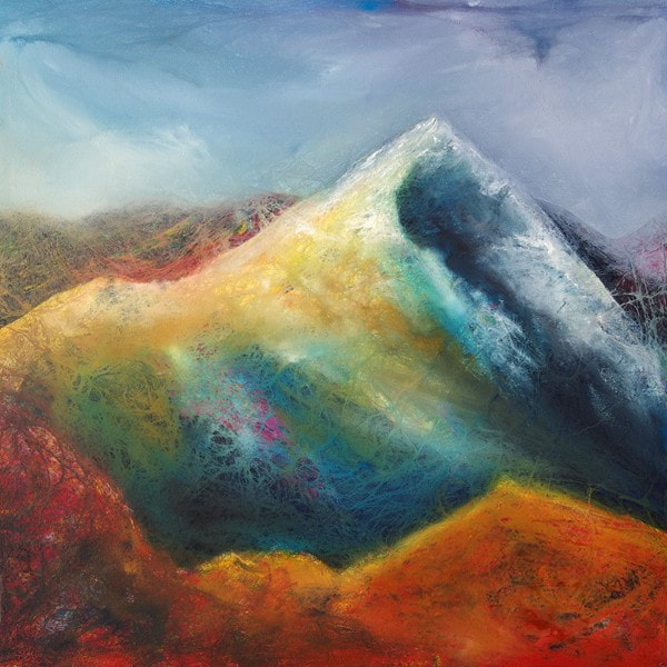 Beinn Alligin, Torridon mountains contemporary Scottish painting