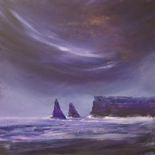 Sea stacks coastal painting