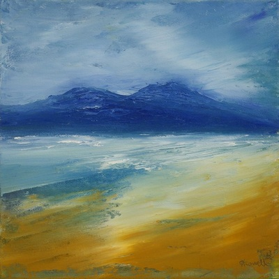 Hebridean coastal painting