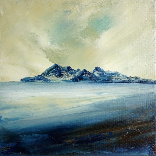Painting of the Rum Cuillins