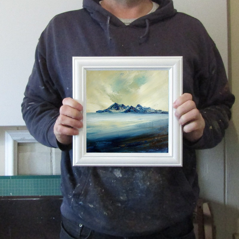 Framed oil painting of Rhum