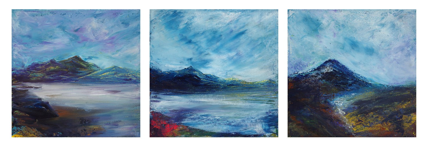 Original Scottish mountain landscape art