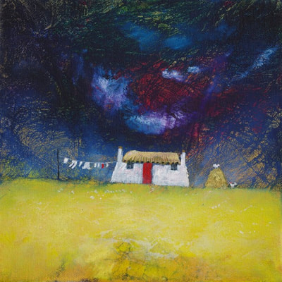 Scottish croft house painting