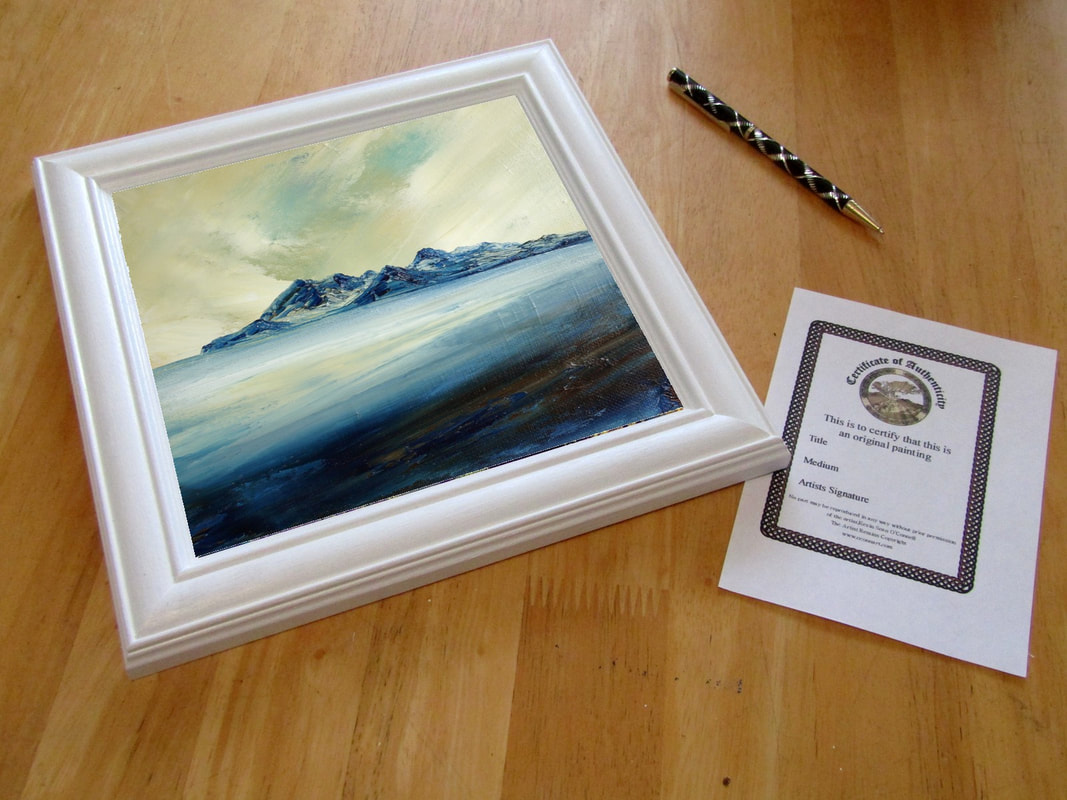 Scottish seascape painting of the island of Rum