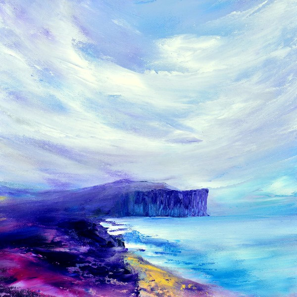Dunnet Head landscape painting giclee print