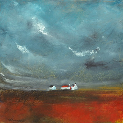 Scottish cottage landscape art